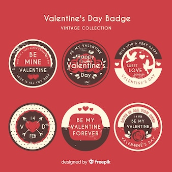 Valentine's day label collection