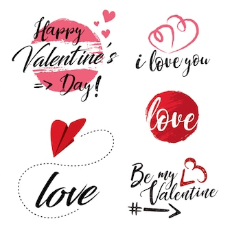 Valentine's day label collection.