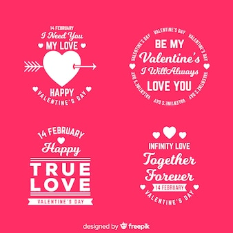 Valentine's day label & quote collection