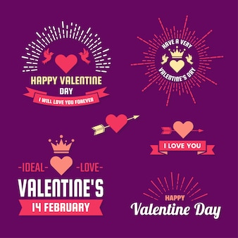 Valentine's day label set