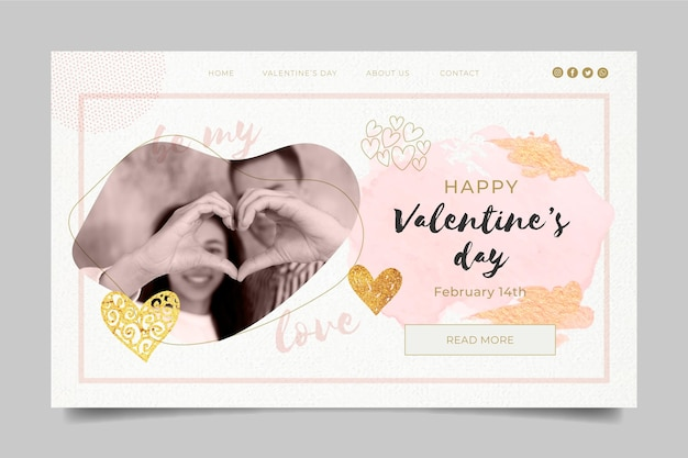 Valentine's day landing page template
