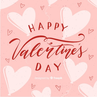 Valentine's day lettering background