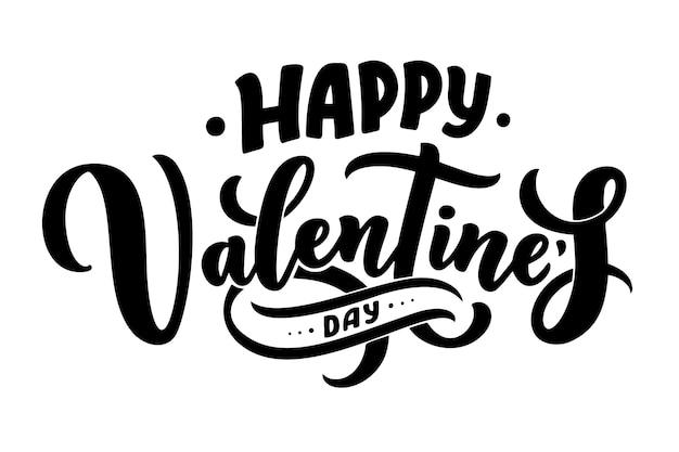 Valentine's day lettering for greeting card design, romantic illustration.