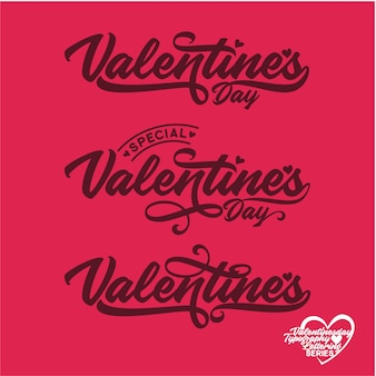 Valentine´s day lettering typography