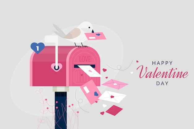 Valentine's day letters background