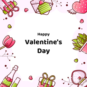 Valentine's day linear style banner