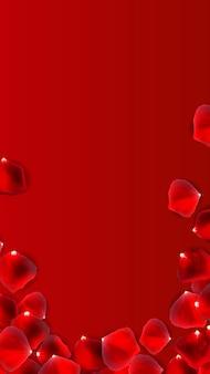 バレンタインデーの愛と気持ちの販売の背景デザイン