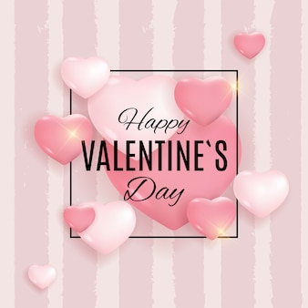 Valentine's day love and feelings background design
