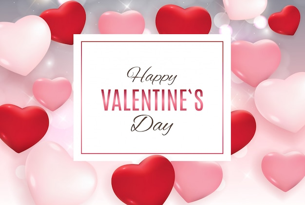 Valentine's day love and feelings background design.