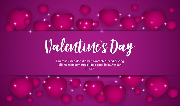 Valentine's day love and feelings sale background design.
