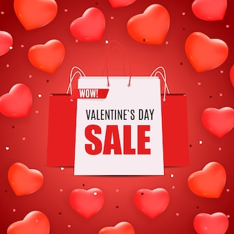 Valentine's day love and feelings sale banner design.