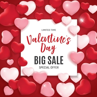 Valentine's day love and feelings sale.