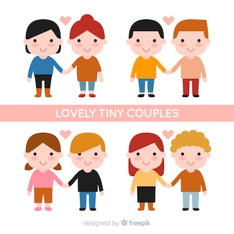 Valentine's day lovely tiny couples