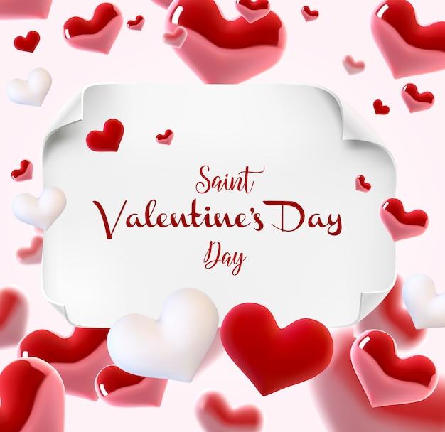 Valentine s day many hearts card