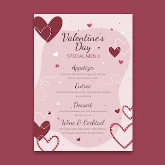 Valentine's day menu concept