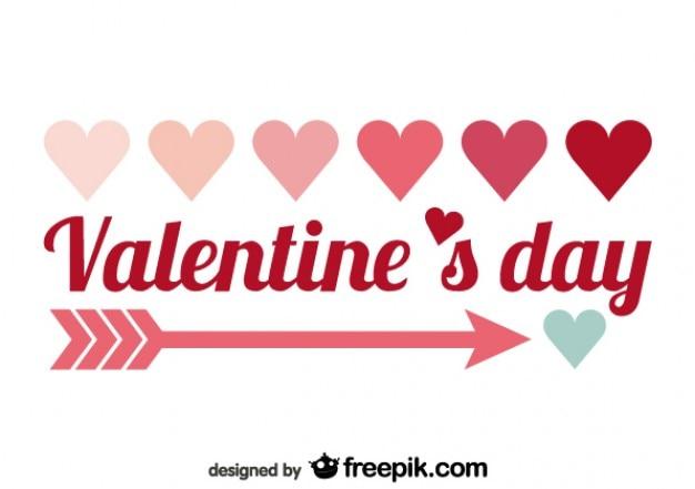 Valentine's day minimalist red text design