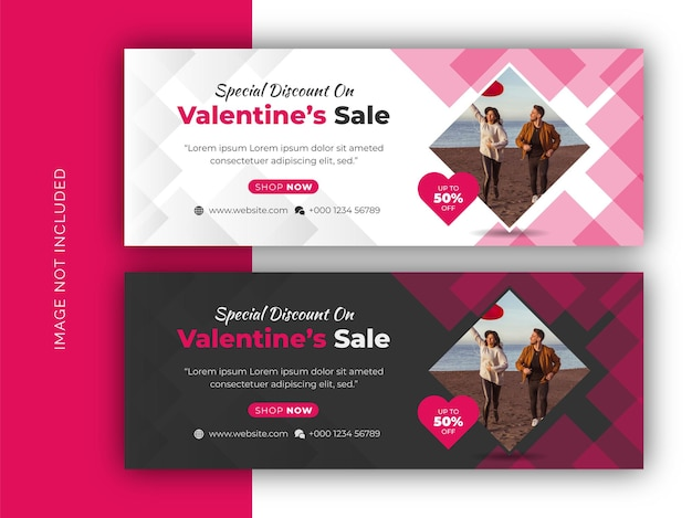 Valentine's day offer discount sale promotion social media facebook cover