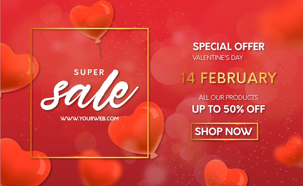 Valentine's day offer with balloons