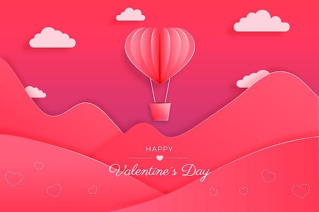 紙のスタイルのバレンタインデー
