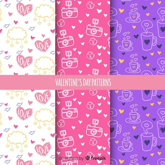 Valentine's day pattern collection