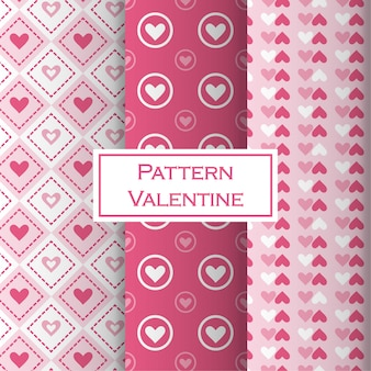 Valentine's day pattern set with hearth