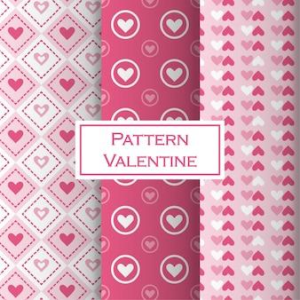 Valentine's day pattern set with hearth