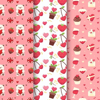 Valentine's day pattern set