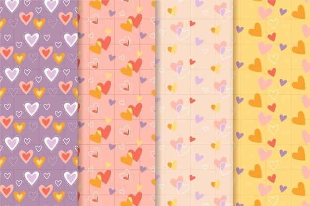 Valentine's day pattern set