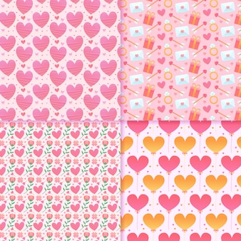 Valentine's day pattern with colourful hearts