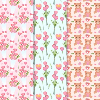 День святого валентина с цветами и мишками