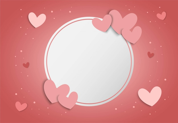 Valentine's day pink background with heart shape