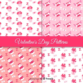 Valentine's day pink pattern collection