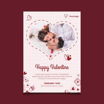 Poster di san valentino a4