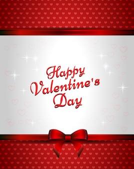 Шаблон красной карточки с сердечками и сердечками