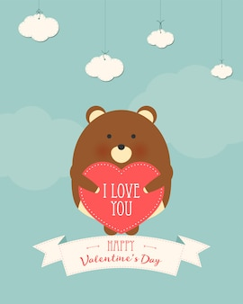 Valentine's day romantic gift card