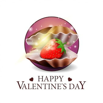 Valentine's day round banner
