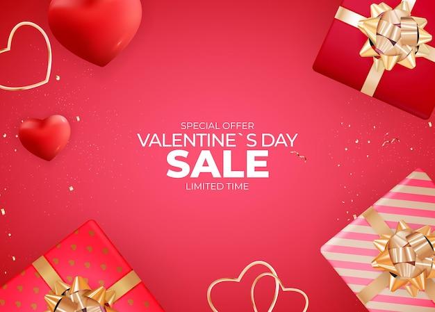 발렌타인 데이 판매 배경 디자인.