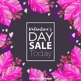 Valentine's day sale background