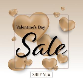 Valentine's day sale background.
