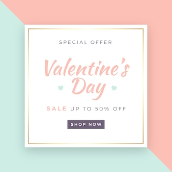 Valentine's Day Sale Background