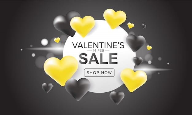 Valentine's day sale banner design