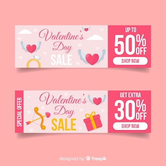 Valentine's day sale banner template