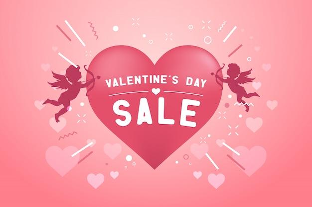 발렌타인 데이 판매 배너 서식 파일