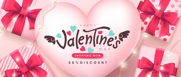 Valentine's day sale banner