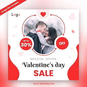 Valentine's day sale banner