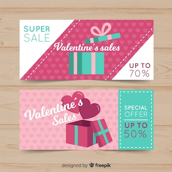 Valentine's day sale banners