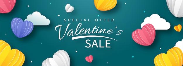 Valentine's day sale header or banner