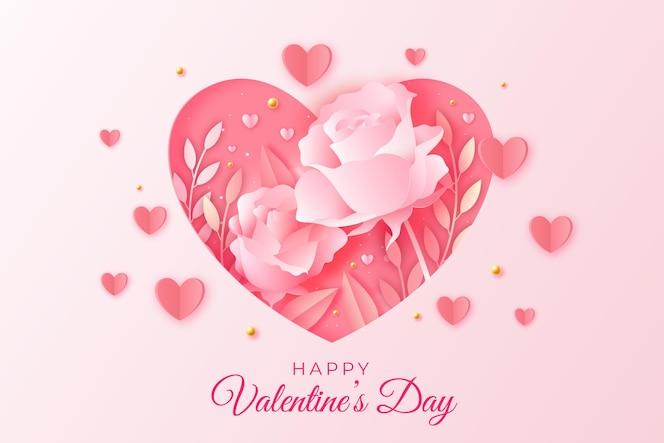 紙のスタイルでバレンタインデーのセール