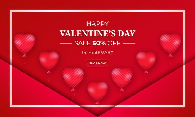 День святого валентина распродажа предлагает фон с сердцем