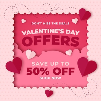 Valentine's day sale promo